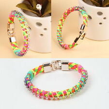 Fashion Leather Wrap Wristband Cuff multicolorbracelet de bracelet Trendy hot