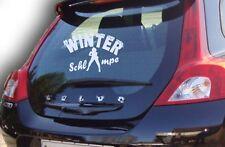 Winterschlampe Auto Aufkleber Sticker Winterauto 30x19cm freie Farbwahl