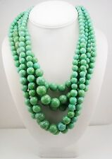 Kenneth Jay Lane Multi Strand Faux Pearl Necklace (patina color)
