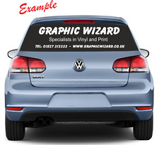 Rear Car Window Advertising Stickers/Graphics/Decals - Vinyl Lettering - Bespoke