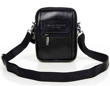 Men Genuine Leather Cross Messenger Shoulder Pouch Belt Hip Waist Fanny Pack Bag