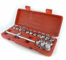 Oil Drain Sump Plug Key Set Universal Hex Square Triangle18pc 3/8 inch Drive