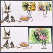 2002 Malaysia Tropical Birds Singapore Joint Issue 4v Stamps FDC + MS FDC (KL)