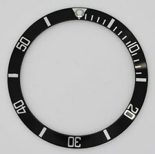 BEZEL INSERT ROLEX SUBMARINER WATCH BLACK SILVER CASES 16610 16800 metal part