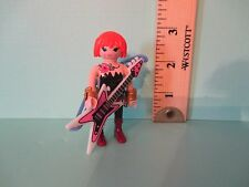 Playmobil SERIES 8 WOMAN GUITARIST W/ TATTOOS new figure + orig pk PM #5597