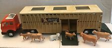 Matchbox 1980 SUPER KINGS Vintage K-8 ANIMAL TRANSPORTER w/ LIVESTOCK Figures