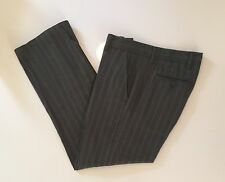 FINK Urban Outfitters Flat Front Brushed Flannel Olive Striped Pants Size 30/30