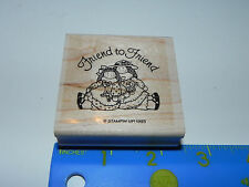 Stampin Up Rubber Stamp - Friend to Friend (Girlfriends Dolls Friends)