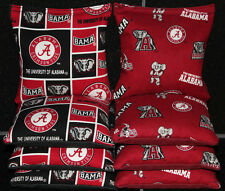 University of ALABAMA CRIMSON TIDE 8 CORNHOLE BEAN BAGS All Weather Resin Filled