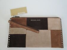 NWT MICHAEL KORS Astor Large Zip Clutch/Wristlet Bag in Dark Caramel
