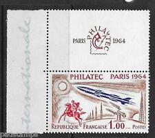 France 1964 Philatec Paris 1fr vf margin MINT never hinged with label  SG 1651
