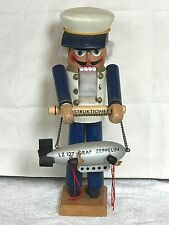 """❤️STEINBACH ~ COUNT ZEPPELIN NUTCRACKER ~ LARGE 15"""" SZ NEEDS CLEANING Germany❤️"""