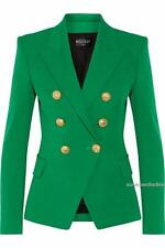 Balmain Double-breasted Green blazer FR36 sold out Style Jacket
