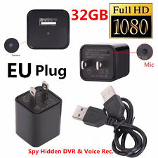 32GB HD 1080p UX-6 Mini USB Spy Camera Video DVR Charger Surveillance CIA FBI EU