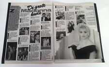 MADONNA 'facts' 2 page ARTICLE / clipping from a Belgian magazine