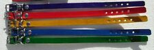 """#DC55 LOTof 5 WHOLESALE LEATHER 8""""-10""""PUPPY/CAT COLLAR ASSORTED COLORS"""
