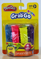 Hasbro Play-Doh Grab 'n Go Brights ~6 Fun Colors for Ages 2+