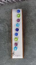 Sterling Silver Multi Color Murano Glass Bracelet Dobbs Boston Italy