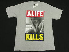NWT NEW Mens Alife T-Shirt Alife Kills Tee Grey Urban Graphic Print Size M M280