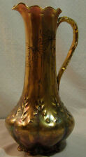 Limoges GDA Chocolate Pot Ewer Pitcher - Fantastic Iridescent Gold glaze Daisies
