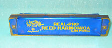 VINTAGE IMPERIAL TIN TOY JAM N TUNES PRO REED HARMONICA BLUE