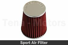 Air Filter Induction Kit Sport Mesh Cone Chrome Finish Universal 65 mm Red