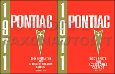 Pontiac Master Body Parts Book 1971 1970 1969 1968 1967 1966 Illustrated Catalog
