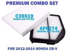 AF6274 C35519 ENGINE & CABIN AIR FILTER COMBO SET For 2012-14 HONDA CR-V