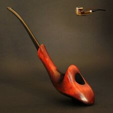 "LADY TOBACCO SMOKING PIPE  PEAR  "" Orchid ""  Churchwarden   Hand Made"