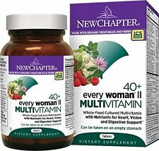 NEW CHAPTER EVERY WOMAN'S II DAILY MULTI VITAMIN 40+ 96 Tablets $90 VALUE 01/18