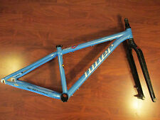 NINER ONE 9 ATOMIC BLUE EASTON GX2 SCANDIUM SMALL BIKE FRAME  15.5 CARBON FORK