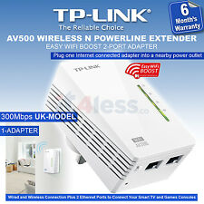 TP Link AV500 WiFi Powerline Extender 300Mbps 2-Port Ethernet Home Plug Bridge