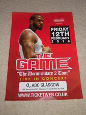 the game - CONCERT POSTER - feb 2016 live music show gig tour poster