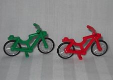 2 NEW LEGO BICYCLES,BICYCLE,1 RED & 1 GREEN FOR MINIFIGURES, FRIENDS, TOWN, CITY