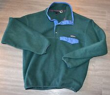 Patagonia Made in USA Snap T Forest Green Synchilla Fleece Small S Vintage