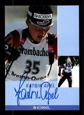 Kartin Apel Autogrammkarte Original Signiert Biathlon+A 125054
