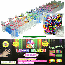 Colourful Rainbow Loom Rubber Bands Bracelet Making Kit Set DIY Craft