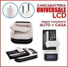 CARICA BATTERIA LCD UNIVERSALE AUTO ACCENDISIGARI CARICABATTERIE CON USB