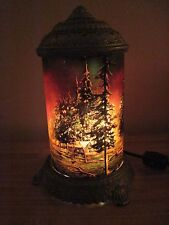 Vintage Forest Fire Motion Lamp Scene In Action Corp Chicago Antique Rewired