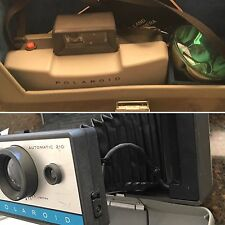 Vintage Polaroid Land Camera 210~ With Case, Bulb & Instruction Booklet