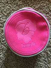 Authentic! Benefit Hot Pink Round Makeup Bag Cosmetic Make Up