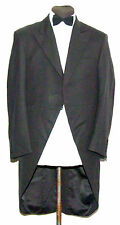 "JOSEPH ALAN HERRINGBONE MORNING FROCK COAT 40"" BLACK"