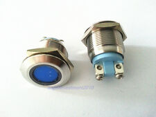 1pc New 19mm Hole Blue Led Indicator Semaphore 110Vac Stainless Steel WaterProof
