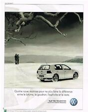PUBLICITE ADVERTISING  2000   VOKSWAGEN    GOLF  TDI 115 4MOTION