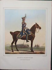 LARGE PRINT ~  CAVALRY BRITISH ARMY OFFICERS ~ 13th LIGHT DRAGOONS ~