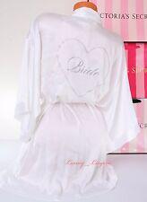 NWT VS VICTORIA'S SECRET I Do Bling Bride Jewel Heart Kimono Robe One Size White