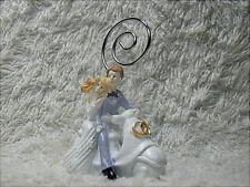 2 bomboniere segnaposto per matrimonio, sposi su vespa in resina  con clip