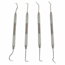 New 4pc Dental Pick Probe Wax Carver Set Stainless Steel *US FREE FAST SHIPPING*