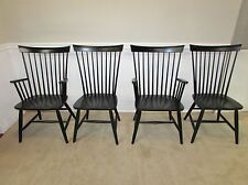 ETHAN ALLEN COUNTRY COLORS FAN BACK CHAIRS, 4 DINETTE, KITCHEN CHAIRS, 14-6410