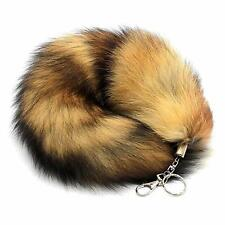 Fashion Keychain Fake Fox Fur Tail Tassel Bag Charm Handbag Pendant Accessory